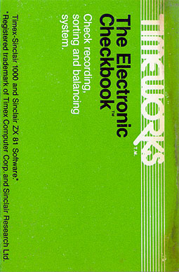 zx81 tape the electronic checkbook by timeworks